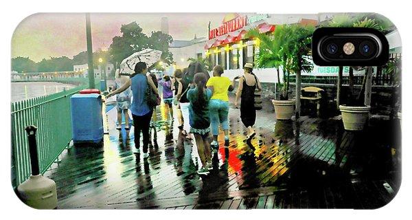 Tiki Bar iPhone Case - Raining At The Tiki Bar by Diana Angstadt