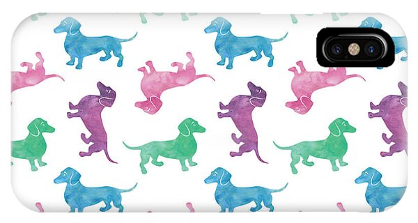 Festival iPhone Case - Raining Dachshunds by Antique Images