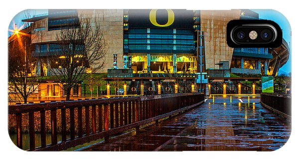 Rainy Autzen Stadium IPhone Case