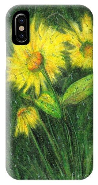 Rainy Daisy Phone Case by Carol Sweetwood