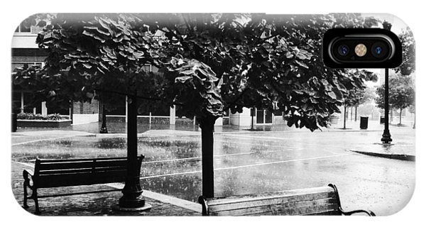 Rainy Day - A Moody Black And White Photograph IPhone Case