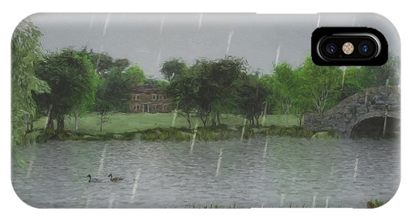Rainy Day At The Lake IPhone Case