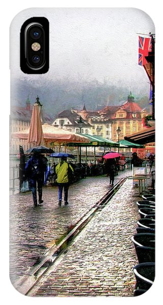 Rainy Day In Lucerne IPhone Case