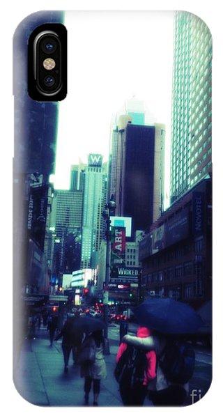 IPhone Case featuring the photograph Rainy Day New York City by Rachel Maynard