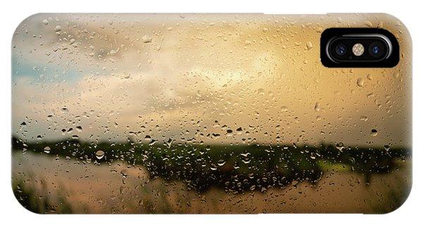 Horicon Marsh iPhone Case - Rainy Dusk Over Horicon Marsh Wisconsin by Steve Gadomski