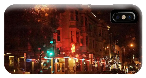 iPhone Case - Rainy Night San Francisco by April Bielefeldt