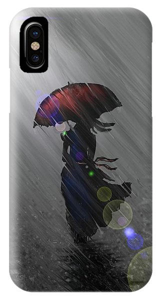 Rainy Walk IPhone Case