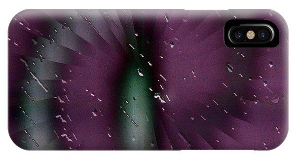 Purple Rain iPhone Case - Rainy Window by Tim Allen
