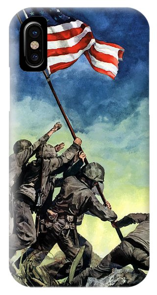 American iPhone Case - Raising The Flag On Iwo Jima by War Is Hell Store