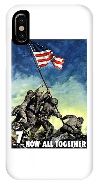 Political iPhone Case - Raising The Flag On Iwo Jima by War Is Hell Store