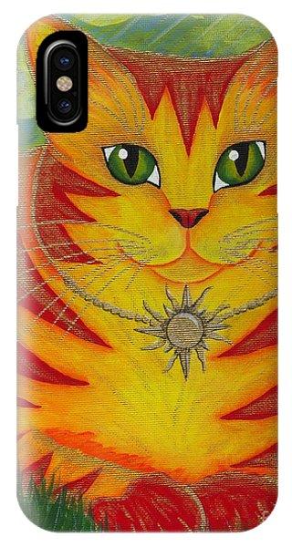 Rajah Golden Sun Cat IPhone Case