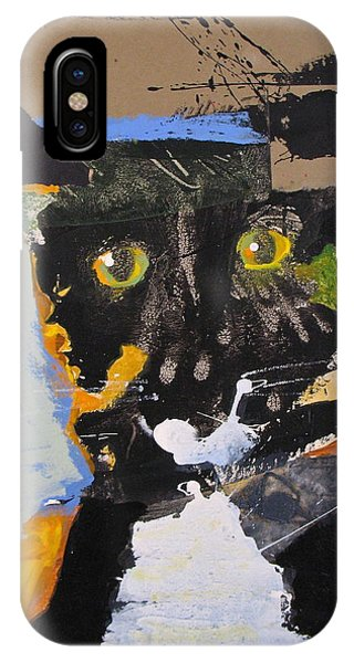 IPhone Case featuring the painting Ralph Abstracted by Cliff Spohn