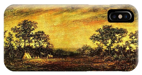 Ralph Blakelock, Indian Encampment IPhone Case