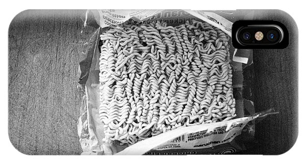 Dinner iPhone Case - Ramen- Black And White Photography By Linda Woods by Linda Woods