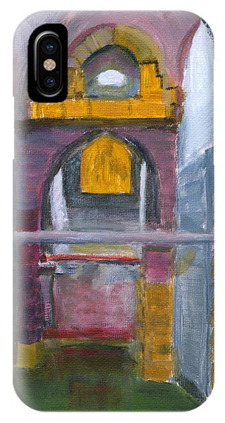 IPhone Case featuring the painting Ramla Israel Cisterns by Linda Feinberg