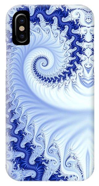 Ram's Horn Blue IPhone Case