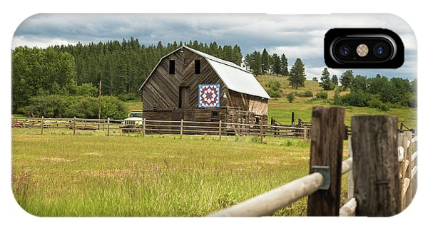 Ranch Fence And Barn With Hex Sign IPhone Case