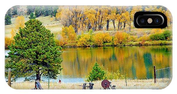 Ranch Pond In Autumn IPhone Case
