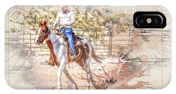 Ranch Rider Digital Art-b1 IPhone Case