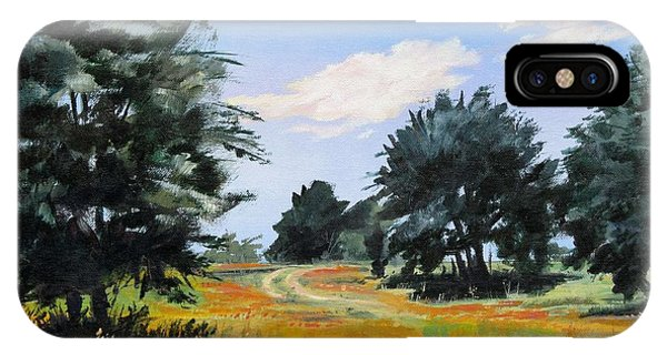 Ranch Road Near Bandera Texas IPhone Case