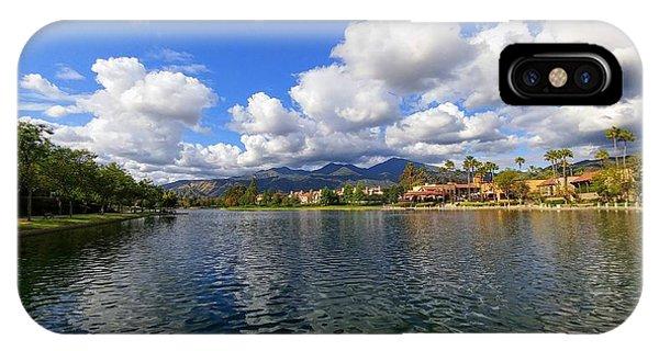 Rancho Santa Margarita Lake IPhone Case