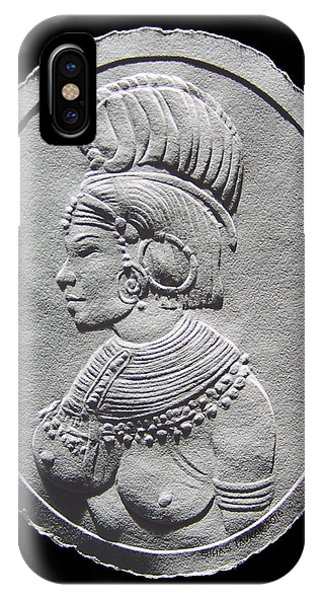 Randille Tribe Woman Relief Drawing IPhone Case