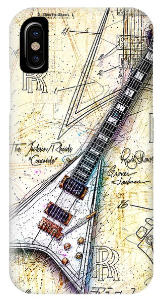 Concorde iPhone Case - Randy's Guitar by Gary Bodnar