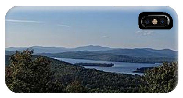 Rangeley Lake Sunset Panoramic IPhone Case