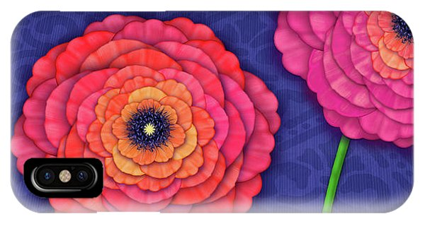 Ranunculus In Blue And White Vase IPhone Case