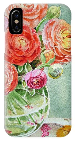 Ranunculus In The Glass Vase IPhone Case