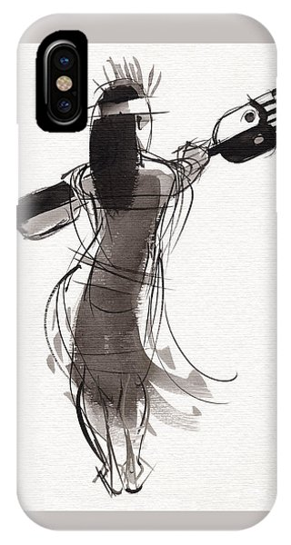 IPhone Case featuring the painting Rapa Nui Dancer by Judith Kunzle