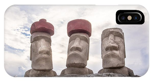 Rapa Nui Stone Heads IPhone Case