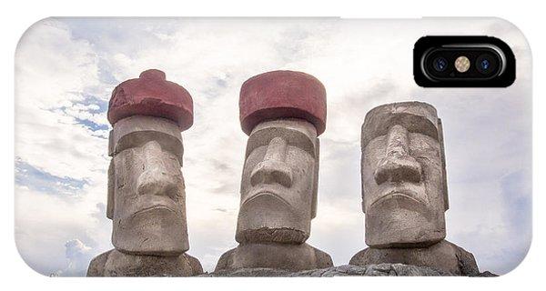 Rapa Nui Stone Heads IPhone Case