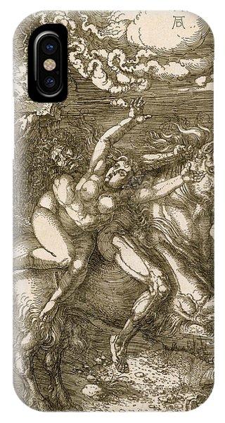 Albrecht Durer iPhone Case - Rape Of Prosperpina by Albrecht Durer