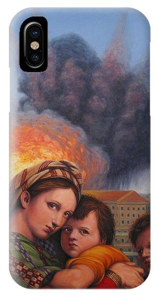 Explosion iPhone X Case - Raphael Moderne by James W Johnson