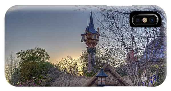 Rapunzel's Tower At Sunset IPhone Case