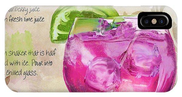 Rasmopolitan Mixed Cocktail Recipe Sign IPhone Case