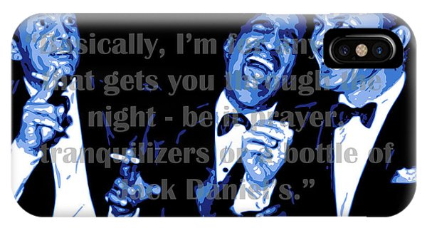 Rat Pack At Carnegie Hall With Quote IPhone Case