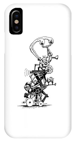 Rat Reverse-cycle Steam Engine IPhone Case