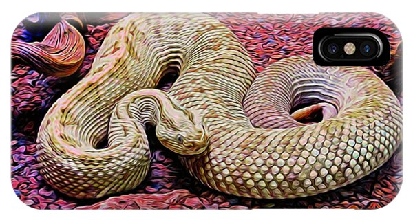 Rattlesnake In Abstract IPhone Case