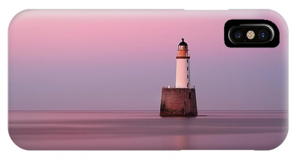 Rattray Head Lighthouse At Sunset - Pink Sunset IPhone Case