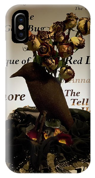 IPhone Case featuring the digital art Raven And Roses by Teresa Epps