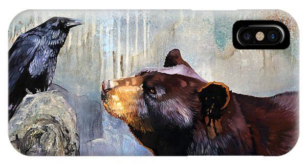 Raven And The Bear IPhone Case
