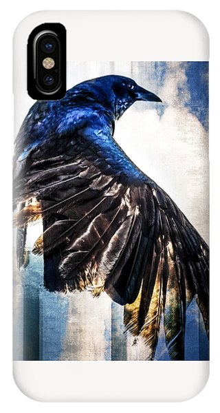 IPhone Case featuring the photograph Raven Attitude by Carolyn Marshall