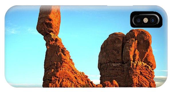 Raven Balanced On A Rock IPhone Case