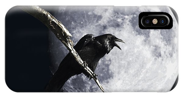 Raven Barking At The Moon IPhone Case