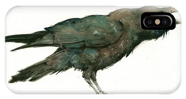 Crow iPhone Case - Raven Bird by Juan Bosco