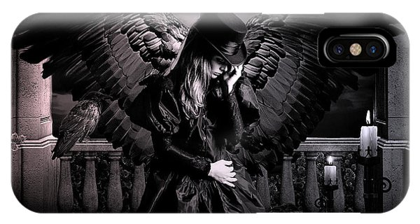 Gothic iPhone Case -  Raven by G Berry