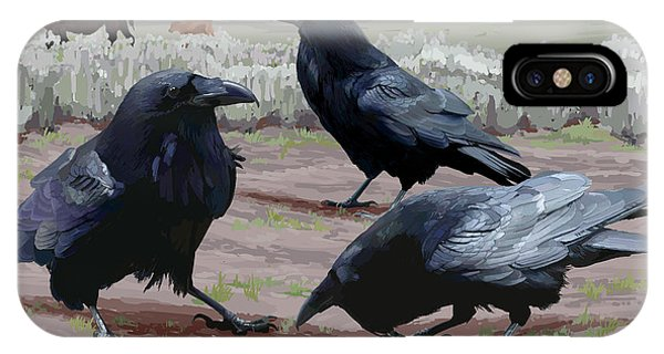Raven Gathering IPhone Case