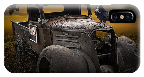Raven Hood Ornament On Old Vintage Chevy Pickup Truck IPhone Case